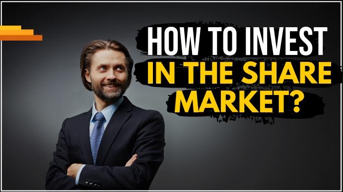 Share market Youtube thumbnail template
