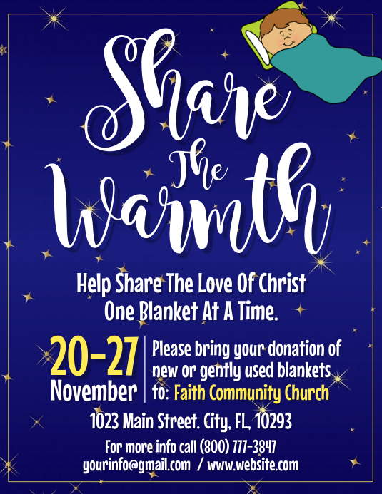 Share the warmth Flyer