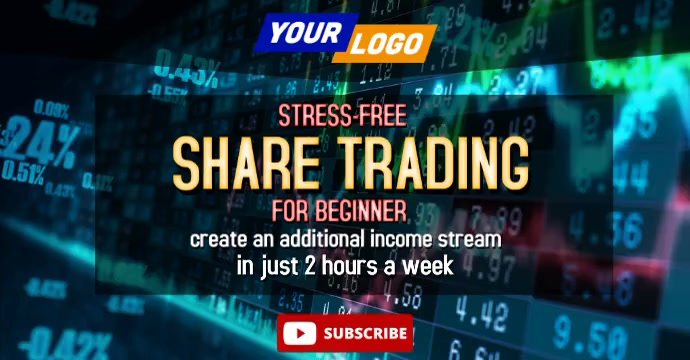 share trading facebook video Facebook-annonce template
