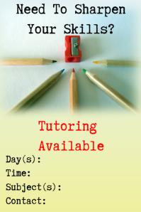 tutor flyer template free