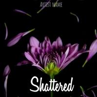 Shattered album cover Portada de Álbum template