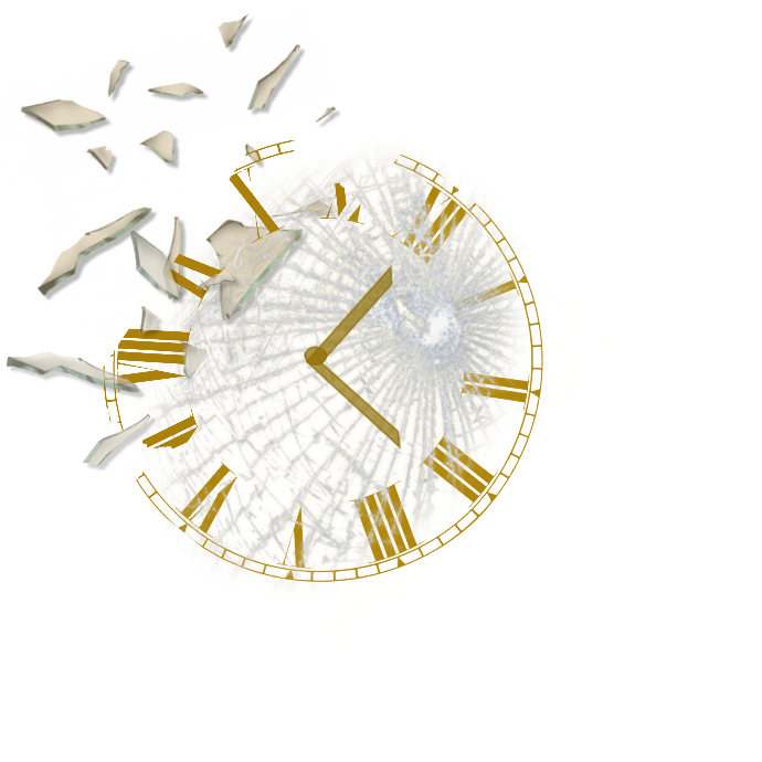 Shattered Recreated Clock Logo template