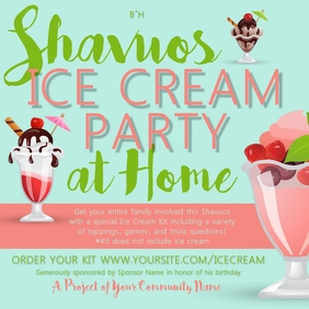 Shavuos Ice Cream Party At Home
