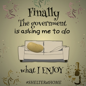 Shelter at Home Humor IG Post
