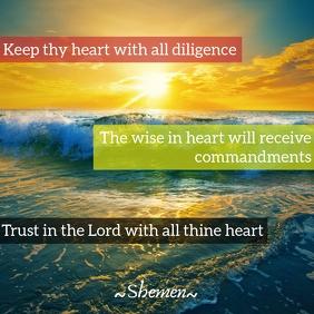 Shemen Inspirational -Heart Template