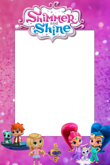 Shimmer Shine 2 Template Postermywall