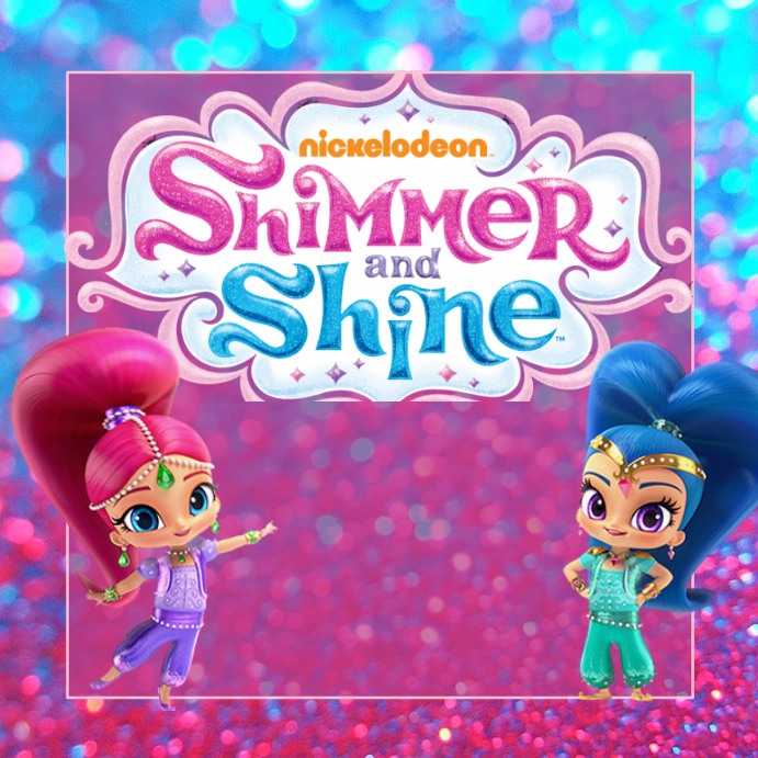 Shimmer And Shine Party Poster Template on concept book