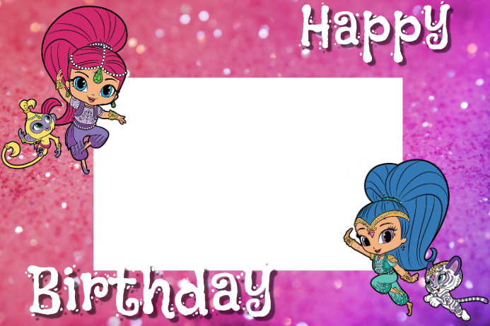 Shimmer And Shine Party Prop Frame Template Postermywall