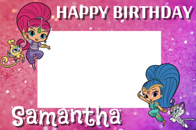 Shimmer and Shine Party Prop Frame