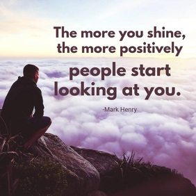 Shine Brightly Motivational Video Quote