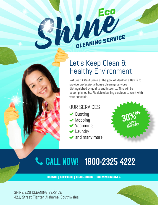 copy of shine eco cleaning service postermywall. Black Bedroom Furniture Sets. Home Design Ideas