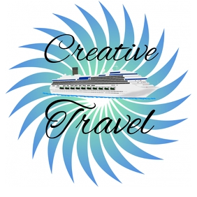 ship cruise travel logo design template free