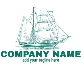 Ship logo Logótipo template