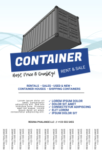 Shipping Container Sale Flyer Template