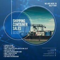 Shipping Container Sale instagram Template Quadrato (1:1)