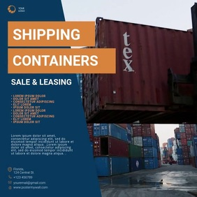 Shipping Container Sale video ad Template