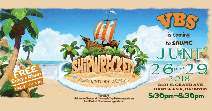 Shipwrecked VBS Flyer Facebook Advertensie template