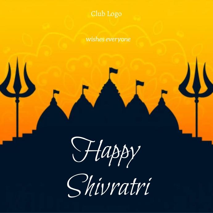 Shivratri Message Instagram template
