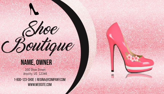 Shoe Boutique Business Card Template Postermywall