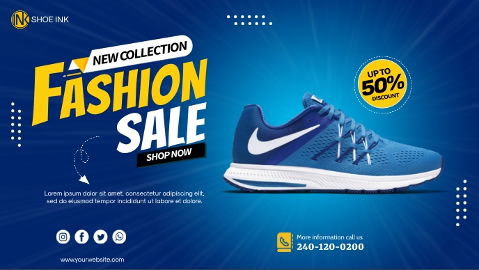 Shoe Cover Promotion template