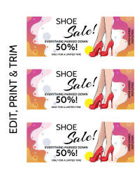 SHOE SALE COUPON Flyer (US Letter) template