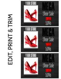SHOE SALE Flyer (Letter pang-US) template
