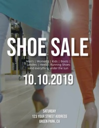 Shoe Sale Flyer Template Pamflet (VSA Brief)