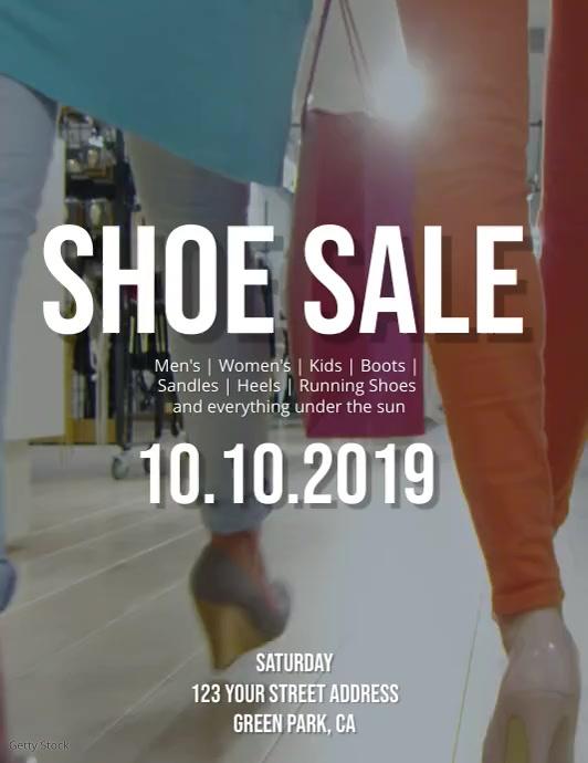 Shoe Sale Flyer Template