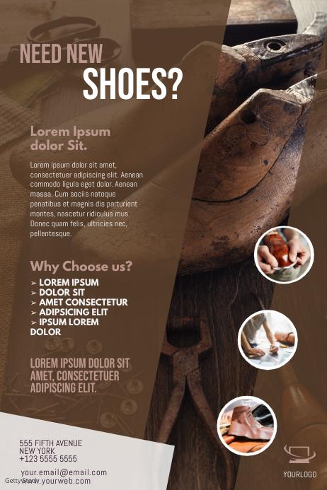 Shoemaker Flyer Template