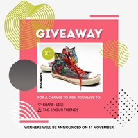 Shoes and Apparel Giveaway Instagram Post Tem Instagram-Beitrag template