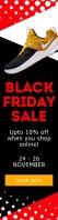 Shoes Black Friday sale web ad Szeroki transparent pionowy template