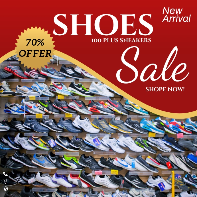 shoes sale Template   PosterMyWall