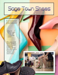 Shoes shoe store sale flyer ad template
