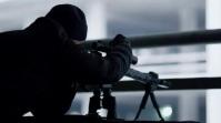 Shooter man Shoot By gun Coverfoto til YouTube-kanal template