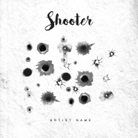 Shooter Rap Trap Music Album Cover Template