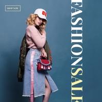 Shop Online fashion Sale Poster Album Cover template