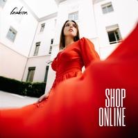 Shop Online fashion Sale Poster Portada de Álbum template