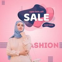 Shop Online fashion Sale Poster Portada de Álbum template