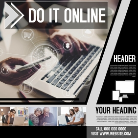 SHOP ONLINE SHOPPING LEARNING TEMPLATE AD