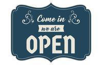 Shop Open Sign Tabloid template
