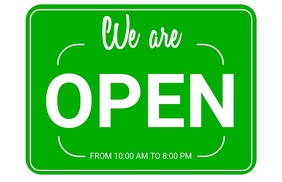 Shop Open Sign Tabloid template
