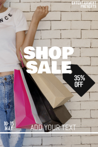 SHOP sale flyer template