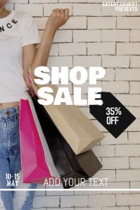 SHOP sale flyer template
