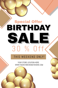 Shop Store Birthday Sale Template