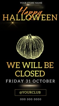 SHOP STORE CLOSED FOR HALLOWEEN DESIGN Instagram Story template
