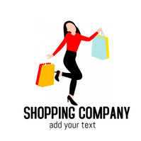 shopping company logo design template