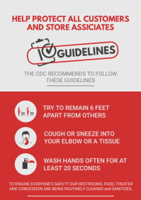Shopping Mart Customer Guidelines Poster