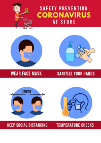 Shopping Store Customer Guidelines Poster A4 template