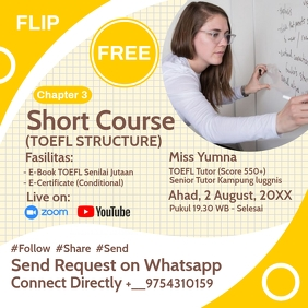 Short Course Webinar Classes Template Square (1:1)