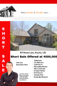 Short Sale Real Estate Flyer